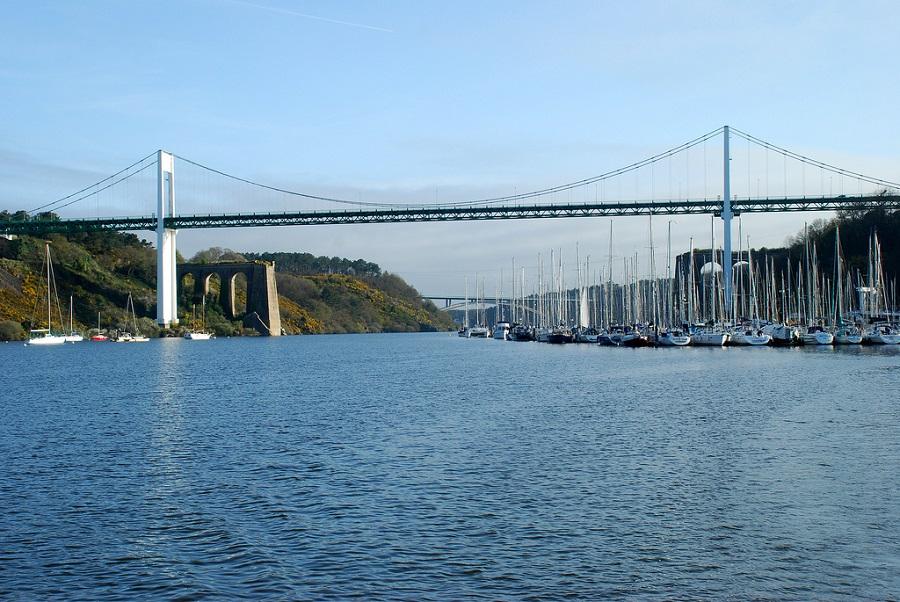 Vue du pont de La Roche-Bernard