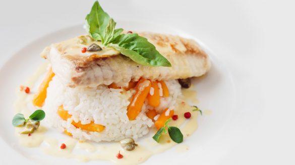 poisson riz restaurant roche bernard